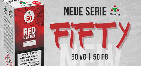 E-liquidy Fifty 50 VG | 50 PG